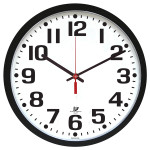 Low Vision Wall Clock Black on White Sm_LRG